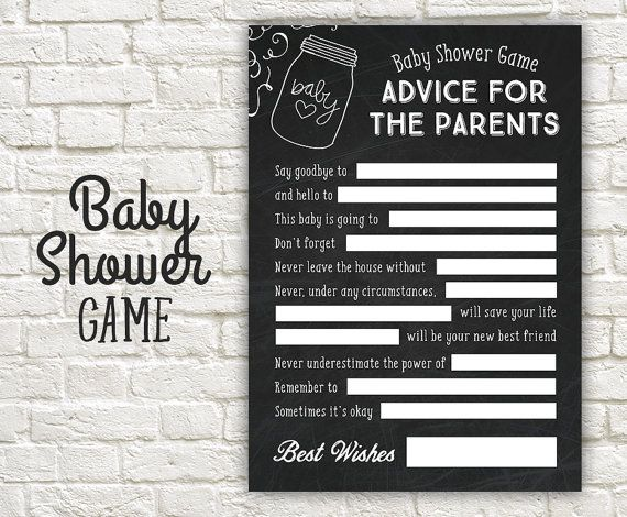 Advice Baby Shower Game  Advice  Parents to Be by StudioTwentyNine
