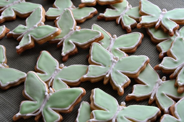 Green Butterfly Cookies