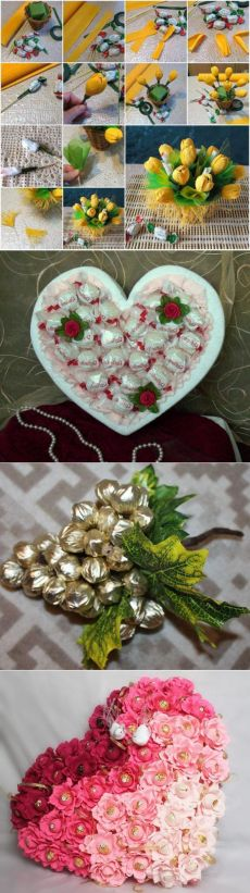Букет из конфет: мастер-класс. Как сделать букет из конфет своими руками? :: SYL.ru