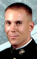 Marine 1stLt. Dustin M. Shumney, 30, of Vallejo, California. Died January 26, 2005, serving during Operation Iraqi Freedom. Assigned to 1st Battalion, 3rd Marine Regiment, 3rd Marine Division, III Marine Expeditionary Force, Marine Corps Base Hawaii. Died of injuries sustained when the CH-53E Super Stallion troop transport helicopter he was in crashed in a sandstorm near Rutbah, Anbar Province, Iraq.