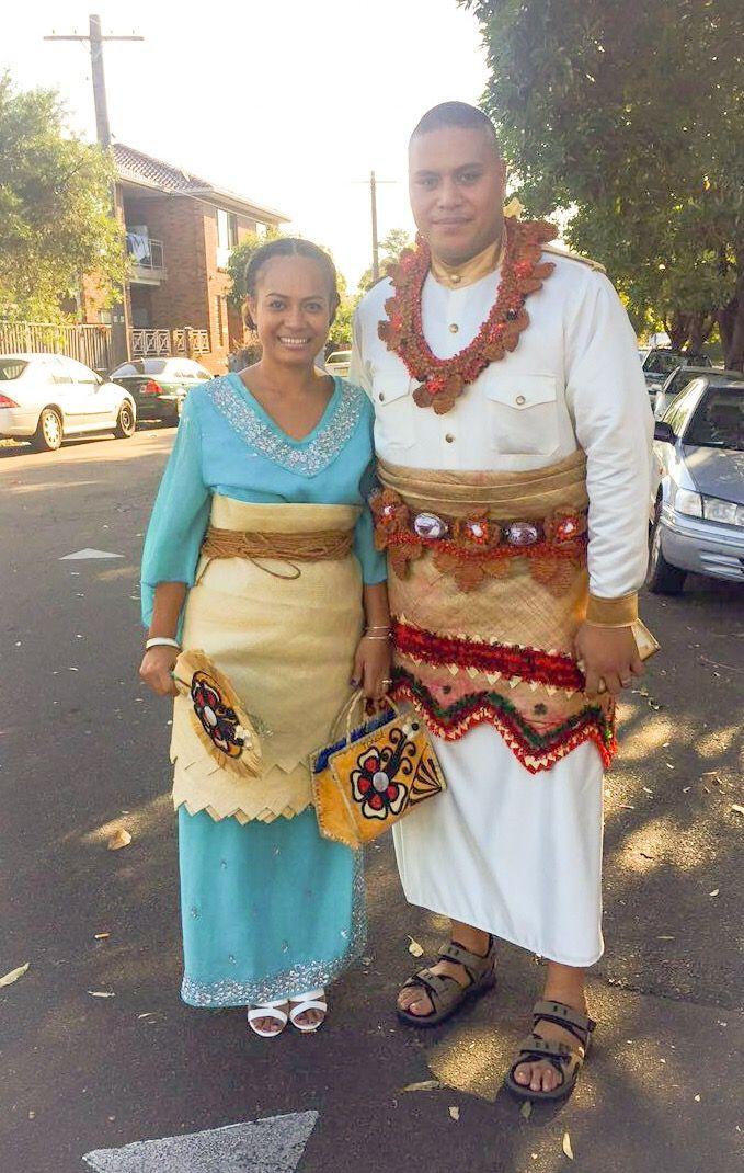 First Sunday Tongan wedding attire