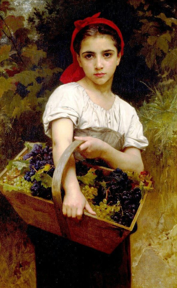 "William Adolphe Bouguereau ""Daughter of the Vineyard"" 1825-1905"