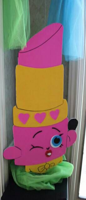 Shopkins lippy lips lipstick party decroation/prop/ wall art/ room decor