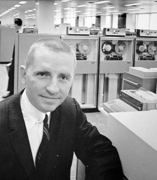 H. Ross Perot is shown in this Oct. 30, 1968 photo, as Electronic Data Systems Corp. chairman in Plano, Texas. In 1984 Perot, founder of EDS, sold his company to GM for $2.5 billion. On Monday, Aug. 7, 1995, GM announce it will spin off EDS, making it an independent company.