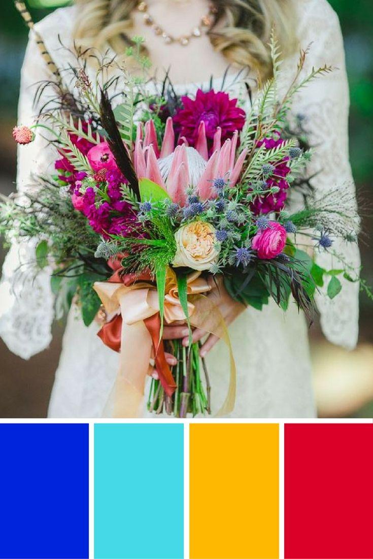 Palette couleurs pour un mariage ethnique