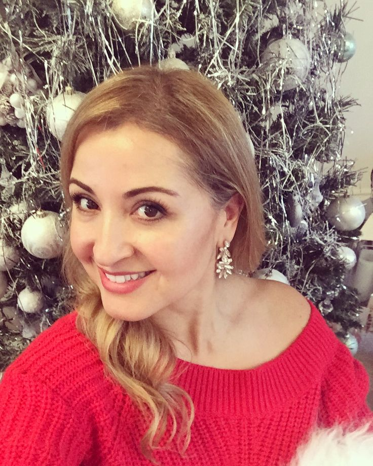 Red Christmas , oversized earrings, fashion