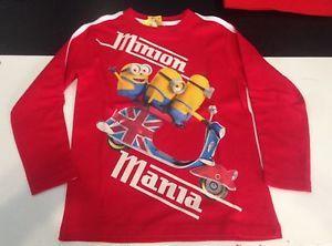 Maglietta manica lunga bambino 6 anni MINION idea regalo Arnetta Italia | eBay