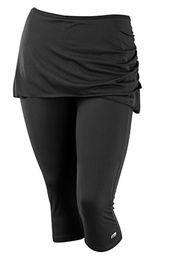 Skirted plus size workout leggings - Marika at AlwaysForMe.com
