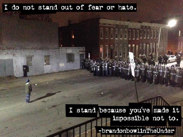 Man in Baltimore faces police