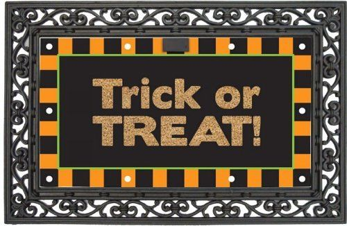 """EverOptics, Happy Halloween,Lighted Coir Floormat With Black Rubber Base,28x16 Inches by Ashley Gifts. $49.99. anti-skid surface;Easy to clean. Recycled rubber backing. Coconut fiber coir material; Fade and weather resistant. This Set includes one Coir Mat and one Rubber Base; Coir Mat Size is: 28""""x16""""; Rubber Base Size is: 36""""x24"""". Light up your steps with the EverOptic Luminous Mat!. The LED lighting system uses 10 Embedded super bright led lights to light up the da..."""