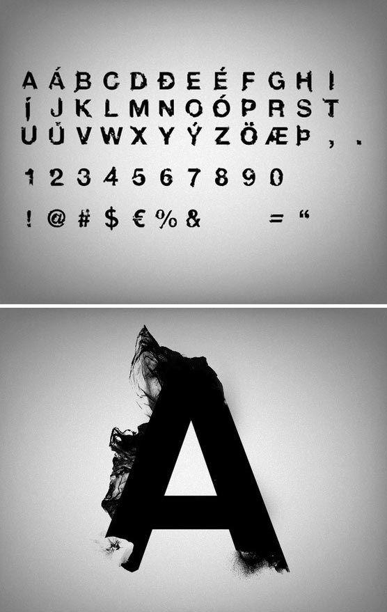 Visuels typographie