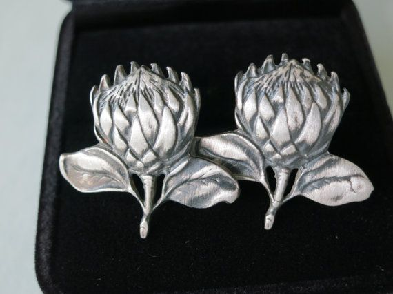 Sterling Protea Cufflinks by Artistic925Jewellery on Etsy