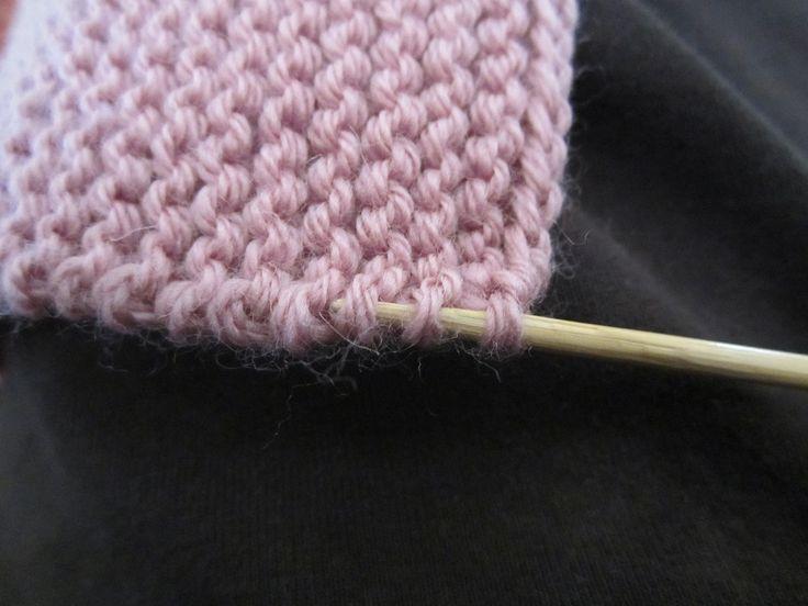 Comment relever les mailles sur du point mousse tricot points tutos pinterest tricot - Broderie sur tricot point mousse ...