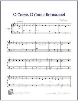 O Come, O Come Emmanuel   Free Sheet Music for Harp - http://www.makingmusicfun.net/htm/f_printit_free_printable_sheet_music/o-come-emmanuel-harp.htm