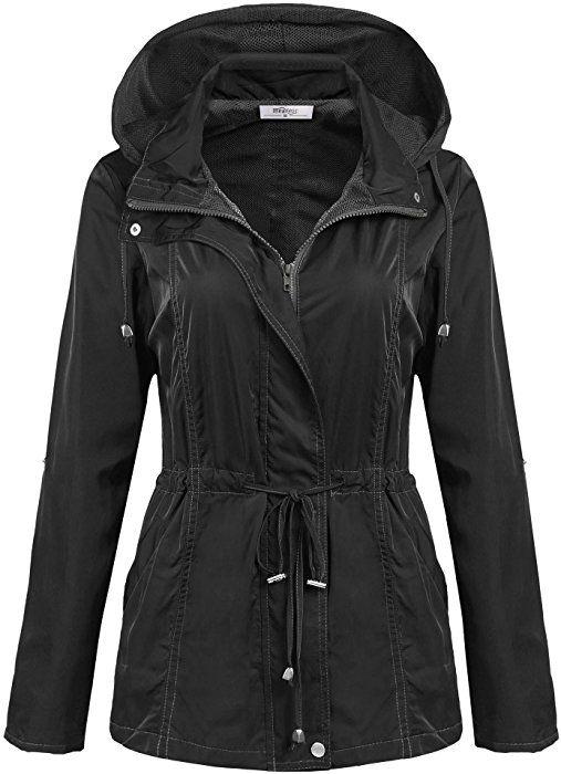 8079f6ba2a5 Meaneor Women Waterproof Lightweight Rain Jacket Outdoor Hooded Raincoat:  Amazon.ca: Clothing & Accessories