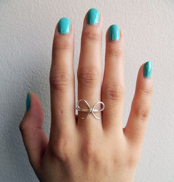 Silver Bow Tie Ring