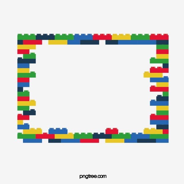 Color Block Border Blocks Clipart Vector Png Building Blocks Png And Vector With Transparent Background For Free Download In 2021 Graphic Design Background Templates Floral Border Design Geometric Background