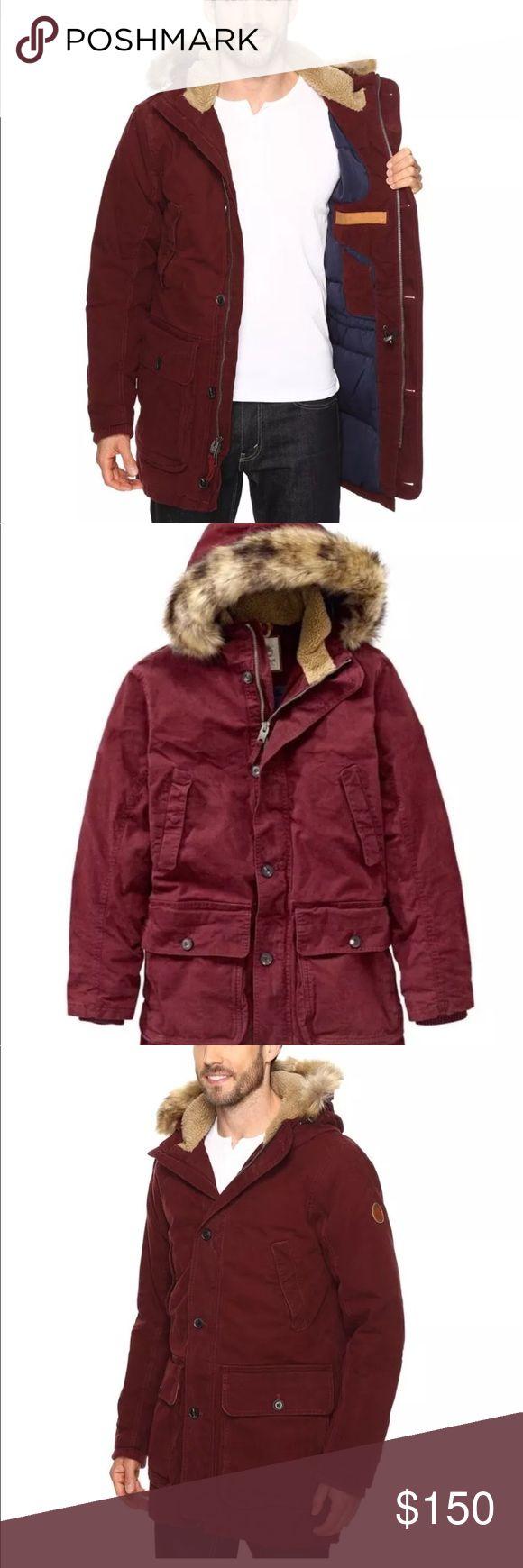 Men's TIMBERLAND winter coat $398 Timberland Men's Scar Ridge Waxed Canvas Down Parka Dark Port A1CDI Timberland Jackets & Coats