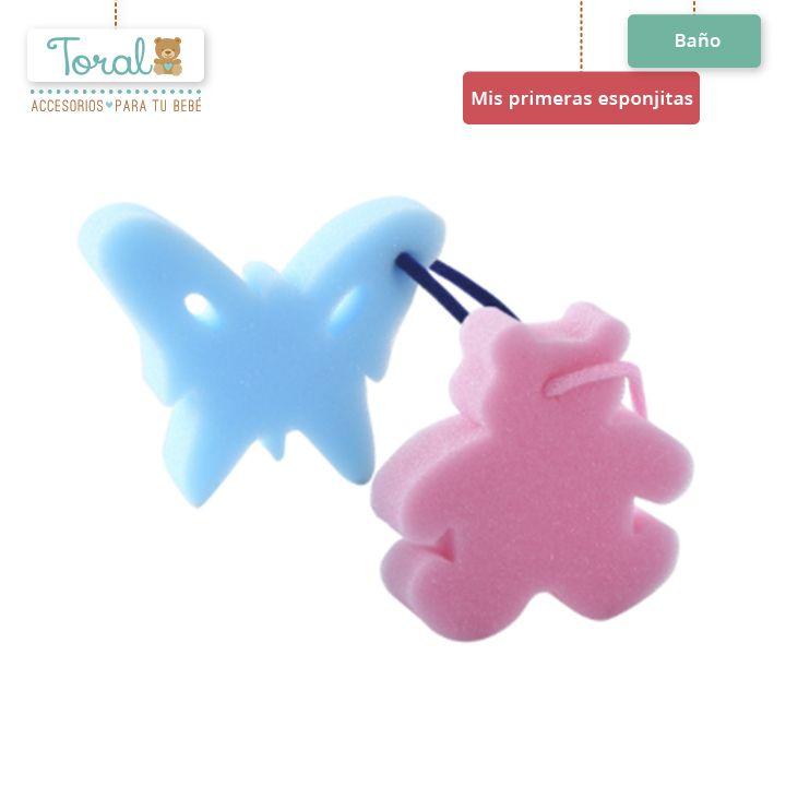 """Divierte a tu bebé mientras lo bañas con """"mis primeras esponjitas"""" son suaves y delicadas. TORAL ¡Le damos la bienvenida a al a vida! Cómpralas sin salir de casa en nuestra página web bebetoral.com"""