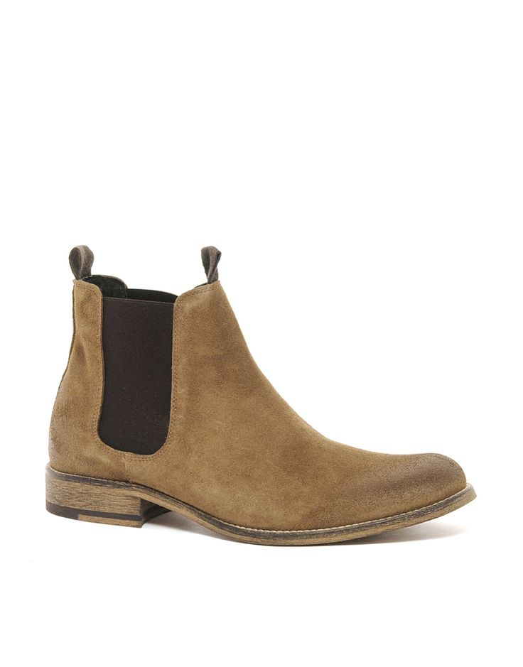 Tan Suede Chelsea Boots by Selected. Buy for $169 from Asos