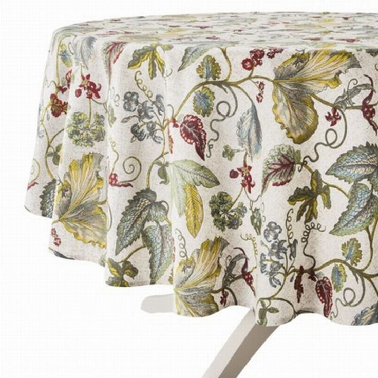 Target Threshold Botanical Leaves Amp Flowers Tablecloth Round Table Cloth 70 Quot Threshold Round
