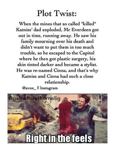 The Hunger Games- wow I was thinking Seneca Crane while reading it but then nope it was cinna...
