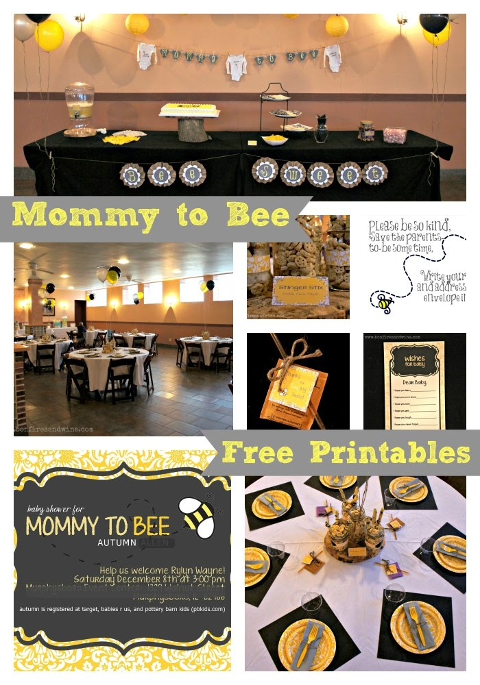 Bonfires And Wine Mommy To Bee Baby Shower