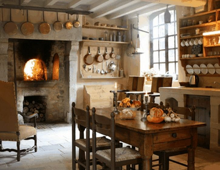 image result for old french farmhouse interior french farmhouse kitchen french country on kitchen interior french country id=21334