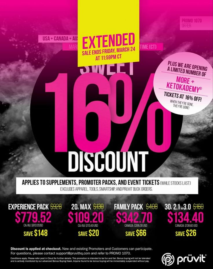 16% Off Sale Extended Until Midnight! Order Your Ketones and Save! http://ift.tt/2neRf6o 16% OFF SALE on ALL KETO OS and KETO MAX products through my website Until MIDNIGHT tonight!  EXPIRES MARCH24rd 11:59pm CT  Discount Applied at checkout!  QUESTIONS?? LIVE CHAT is at the the bottom of the page!  Order by phone! Call us at 1-855-KETONES(1-855-538-6637) Toll free!  Not sure which version to pick? Check out my article -> Comparing each KETO version!  Keto OS Review  Discount Applied at…