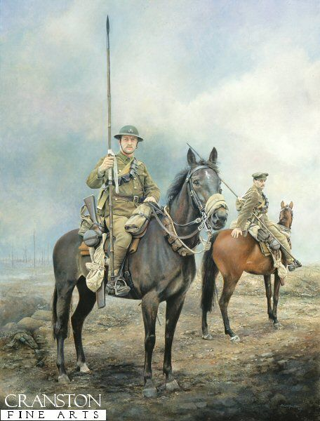 Death and Glory in Flanders Fields by Chris Collingwood. The 17th Lancers in Flanders 1916.