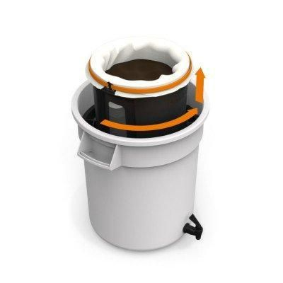 The 38 litre brewing bucket is large enough to fit Brewista's patented Lift & Lock draining mechanism, which lifts the filters up and allows the concentrate to drain without you having to hold it. This reduces the waste, mess, and frustration that comes with most commercial cold brew coffee kits.