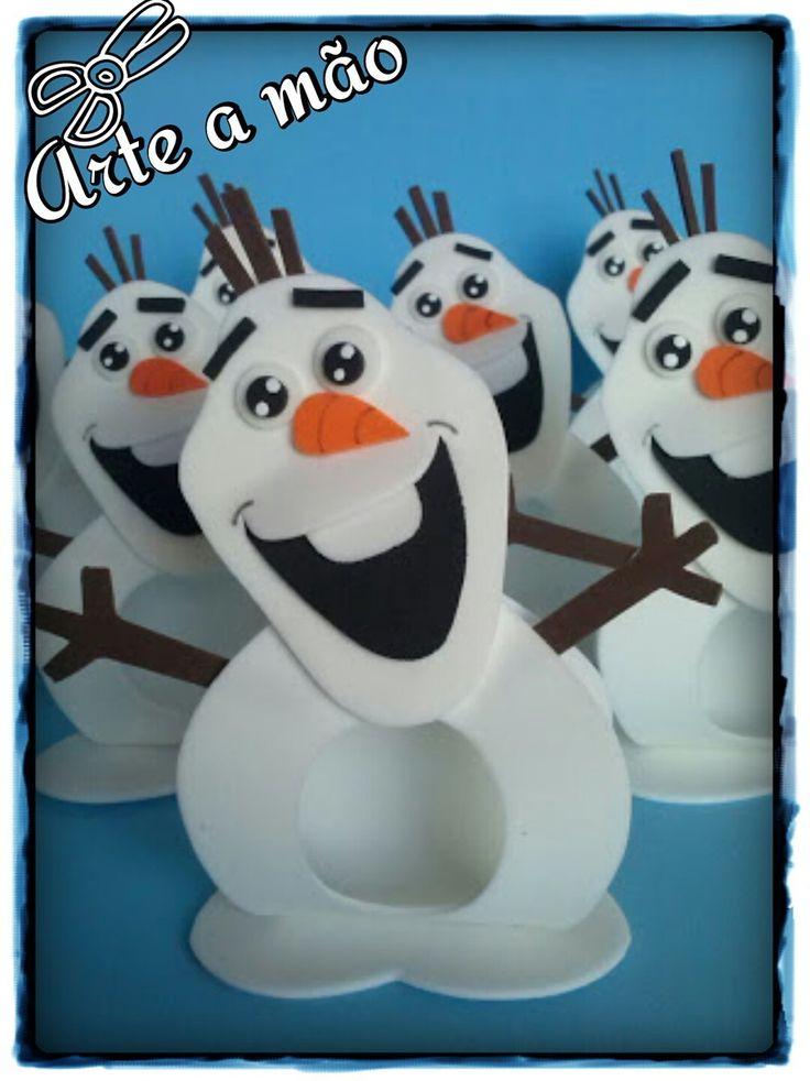 Porta Bombom Olaf - Frozen <br>Confeccção em EVA <br>Excelente Acabamento <br>Perfeito para sua lembrancinha!