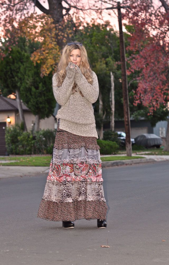 Style maxi dress fall outfit