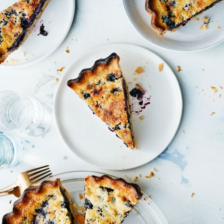 Parbaking the crust of this blueberry pancake–flavored custard pie ensures the bottom will be crisp when it's done.