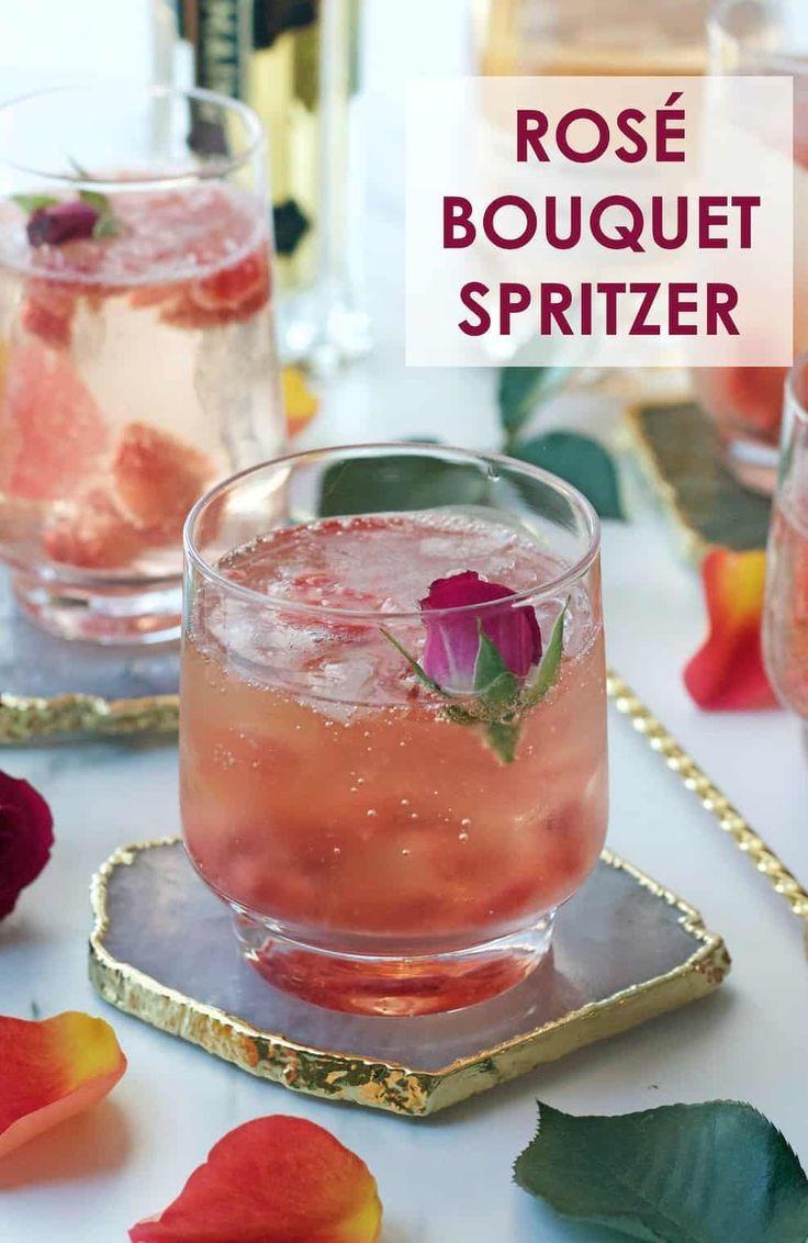 Rose Bouquet Spritzer Foodista Drink Blog Of The Day Blog Bouquet Day Drink Foodista Rose Spritzer Rose Wine Recipes Wine Slushie Recipe Spritzer