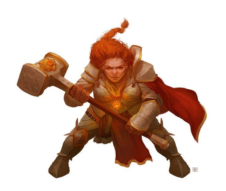 Dwarf Hammerblock Wizard by DenmanRooke.deviantart.com