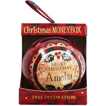 Personalised Money Box Bauble - Amelia | Money Boxes at The Works