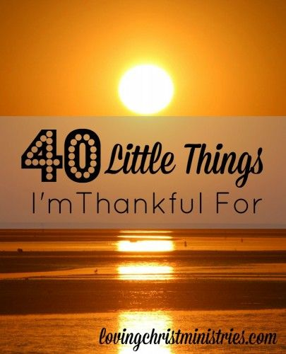 It's easy to find the bigs in being thankful but sometimes the littles get swallowed up in the busyness of our lives. These little things all make my heart happy. What are your littles?