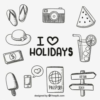 Hand drawn holiday icons