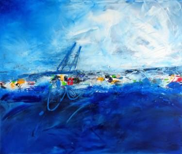 "Saatchi Art Artist Vera Komnig; Painting, ""No. 406"" #art  Acrylic and oil on canvas 100x 120 cm http://www.saatchiart.com/art/Painting-No-406/695057/2723852/view#  www.verakomnig.com"