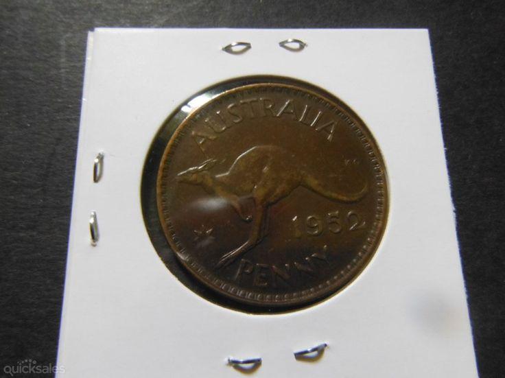 Australian penny, KGVI 1952 good condition by jones101 - $4.50