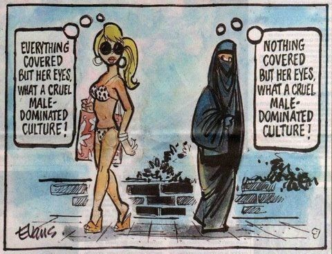 But, one are fashion females, males and everything in between can create something that they like. And you don't have to where it. The other one is punished by death if not used in some culture's and under some law's. Dont talk bullshit!