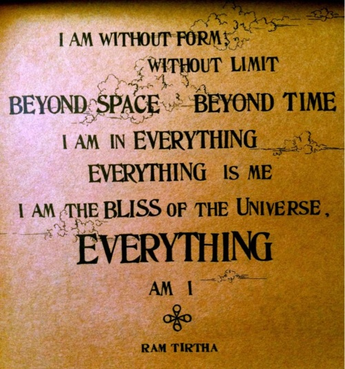 Be Here Now. Ram Dass :)