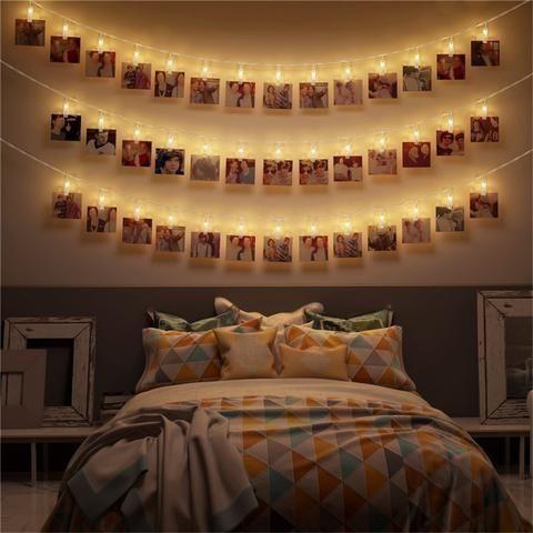 Desain Kamar Dengan Lampu Tumblr Dan Foto Polaroid - LAMPURABI