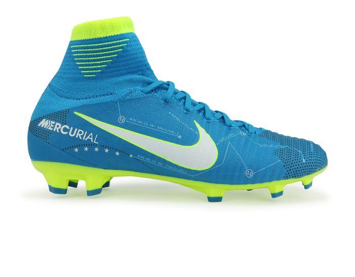 Nike Kids Mercurial Superfly DF Neymar Jr FG Blue Orbit/White