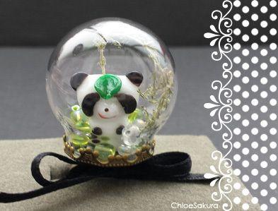 Bague bulle de verre Panda de ChloeSakura sur DaWanda.com