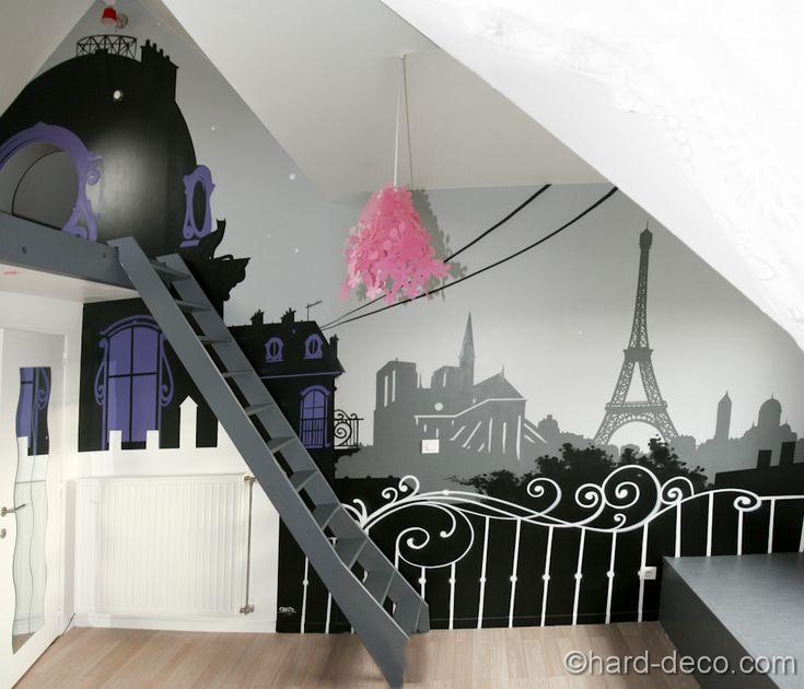 Best CHAMBRE Images On Pinterest Child Room Girls Bedroom And - Eiffel chambre de la tour des idees de decoration
