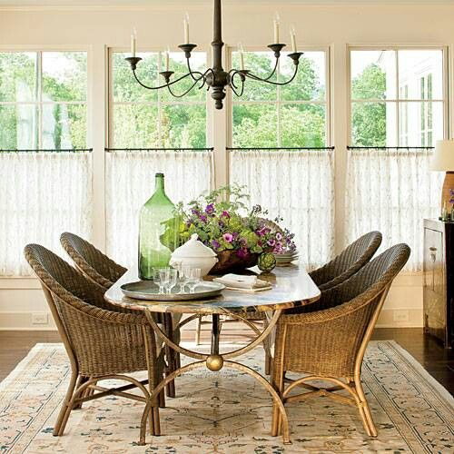 Cafe Curtains Via Southern Living