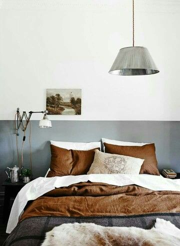 Paint a stripe instead of a headboard.