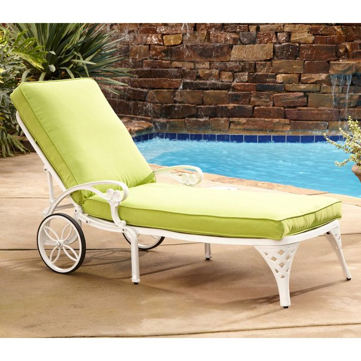 outdoor home styles biscayne chaise lounge chair
